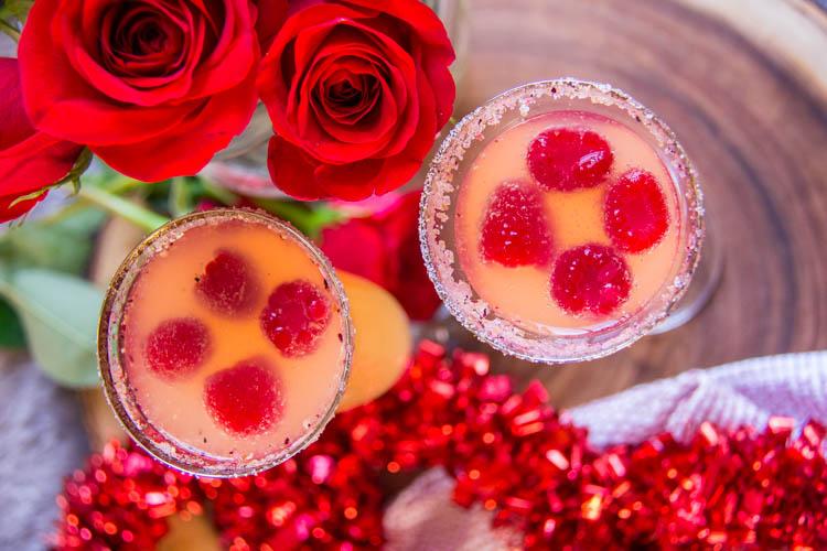 pretty in pink cocktail recipe using cathead vodka - Valentines Vodka