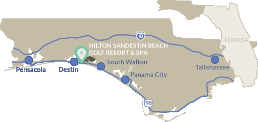 Sandestin Florida Map sandestin florida beach resort hilton ...