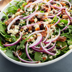 Recipe: Cranberry, Walnut, Red Onion, Bacon, Gorgonzola Salad